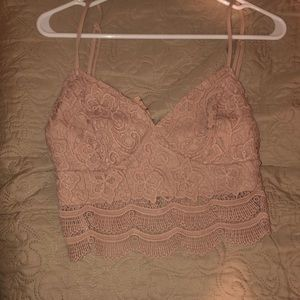 Cropped lacy top